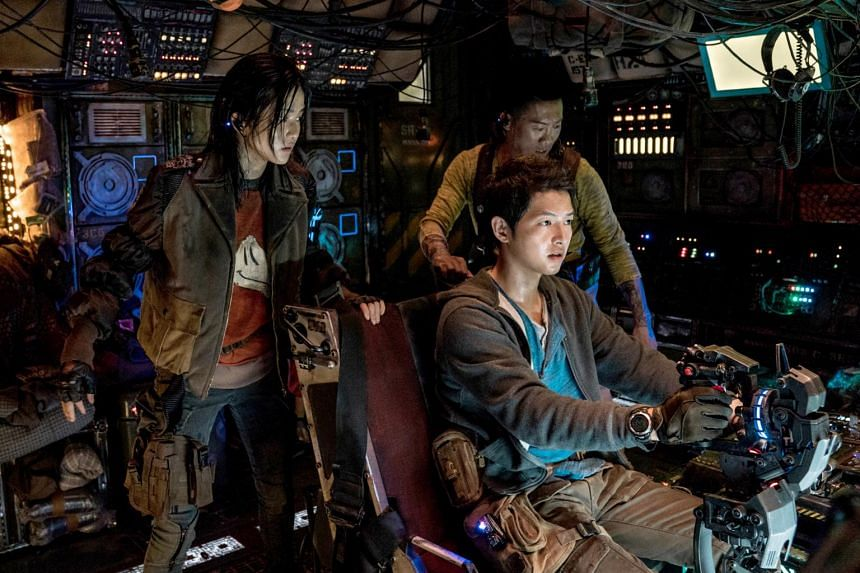 Song Joong-ki, Kim Tae-ri and Jin Seon-kyu in Space Sweepers.