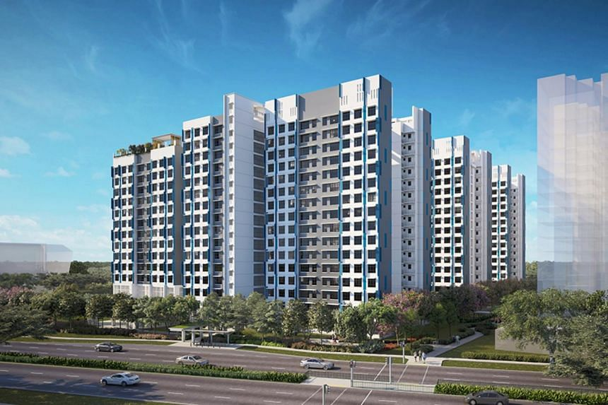 The five-room flats in ParkEdge @ Bidadari and Alkaff Breeze (pictured) housing project were the most in demand.