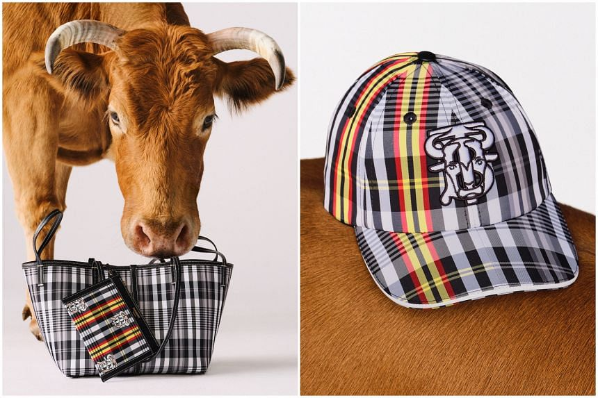 Burberry has incorporated its small varsity-esque ox motif for its bags and accessories this CNY.