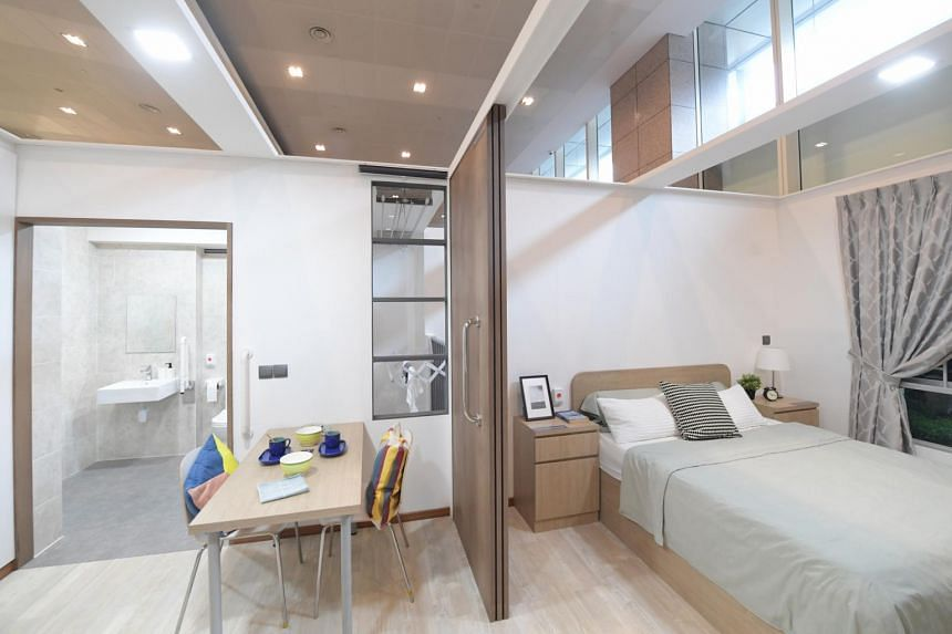 The showflat for the Community Care Apartments at HDB Hub.