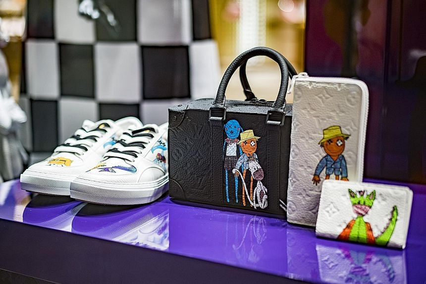 The installation of luxury shipping containers outside Ion Orchard emblazoned with Louis Vuitton's logo is part of the fashion house's Men's Spring Summer 2021 Collection.