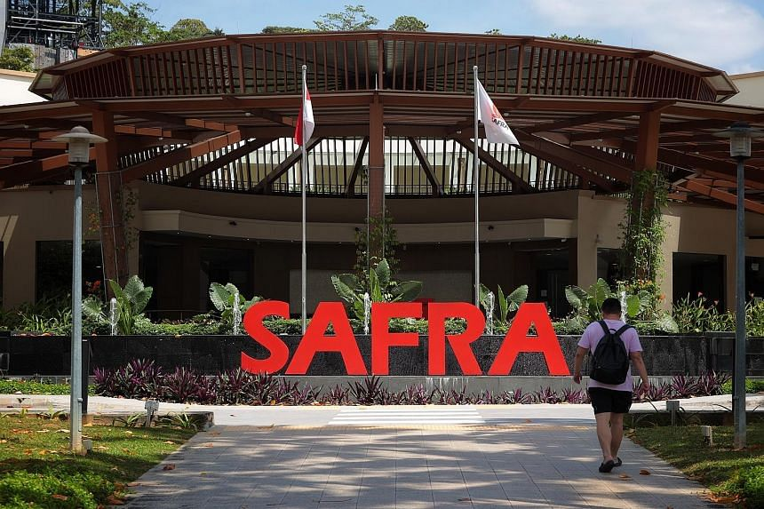 All activities at Safra Yishun's (left) adventure sports centre have been suspended temporarily, said Safra, adding that it will render the necessary assistance to the authorities. An outdoor activity structure at Safra Yishun. It is unclear what act