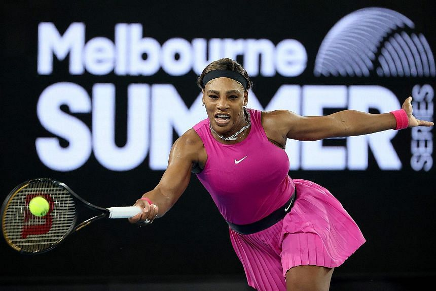 Serena Williams pulled out of the Yarra Valley Classic with a right shoulder injury on Feb 5, 2021.