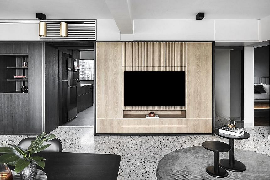 Happe Design Atelier's contemporary overhaul for a four-room Housing Board flat in Stirling View, Queenstown.