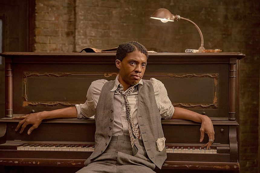 The late Chadwick Boseman earned a Best Actor nomination for his role in Ma Rainey's Black Bottom.