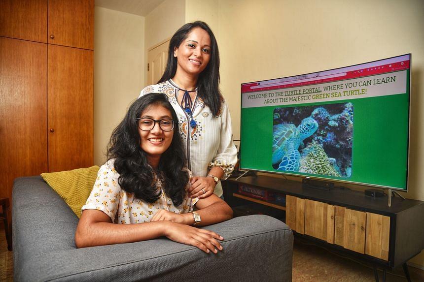 Mrs Pranati Bagchi (right) and her 16 year old daughter, Ms Rimi Chakravarti.
