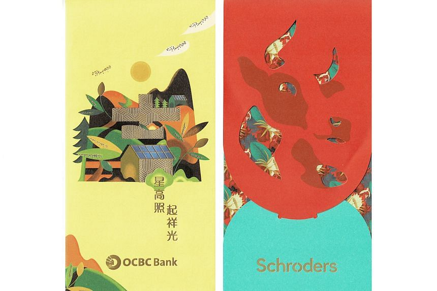 Left: OCBC Bank. Right: Schroders