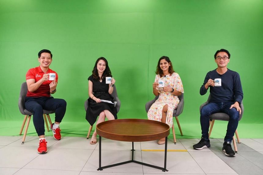 (From left) Minister of State Alvin Tan, host Faith Lee, Ms Shilpa Jain and Mr Simon Leow during a discussion on Feb 6, 2021.