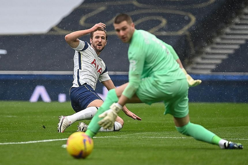 Harry Kane netting past West Brom goalkeeper Sam Johnstone to open accounts for Spurs. The 2-0 win was just their third in 11 games but manager Jose Mourinho is hopeful things will improve with Kane back in action.