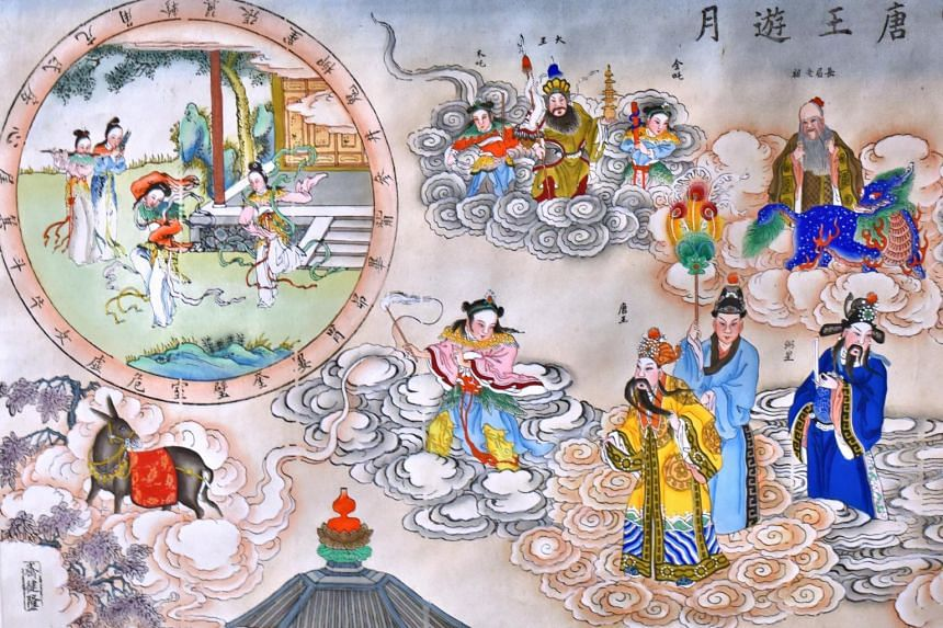 Ancient Nianhua often illustrated Chinese legends.