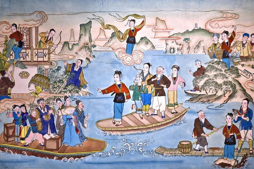 Nianhua often depicted scenes of great beauty.