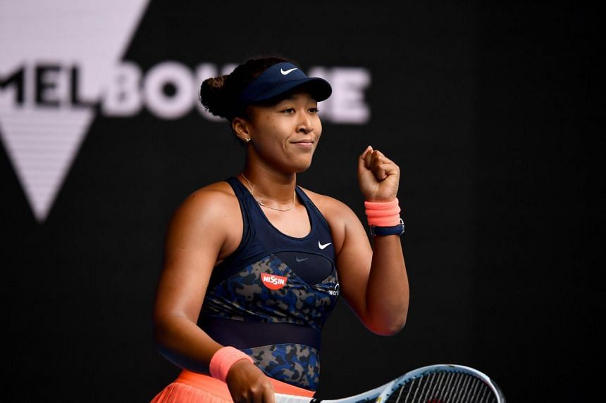 Naomi Osaka won the first four games and continued the momentum.