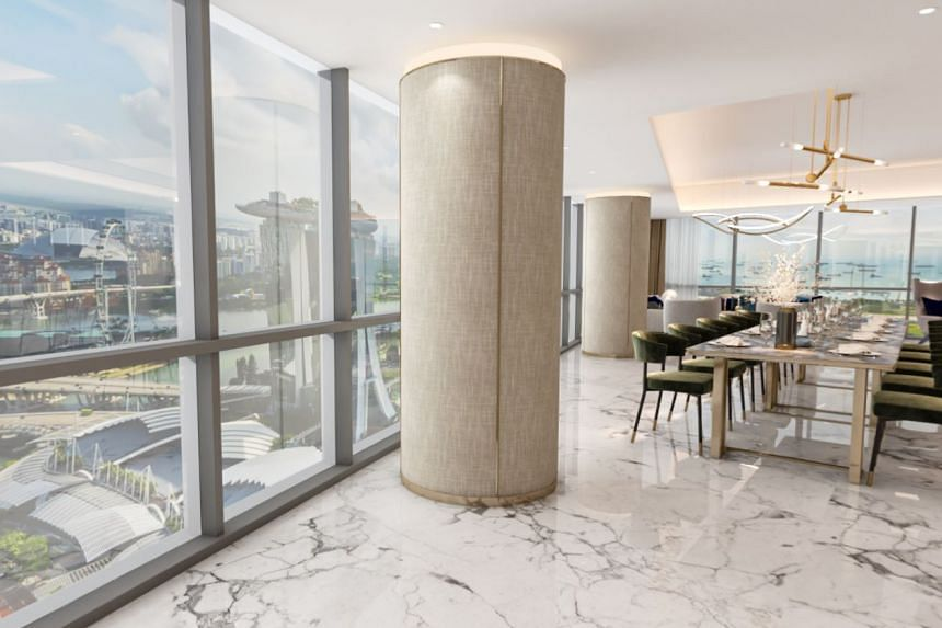 3D virtual staging of the five penthouses by Livspace.