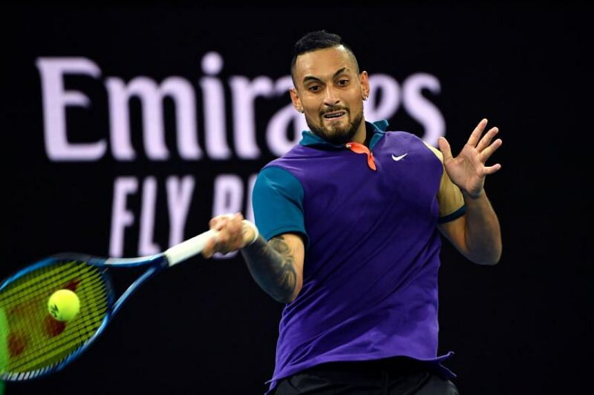 Nick Kyrgios (above) cruised past Portuguese qualifier Frederico Ferreira Silva in straight sets.