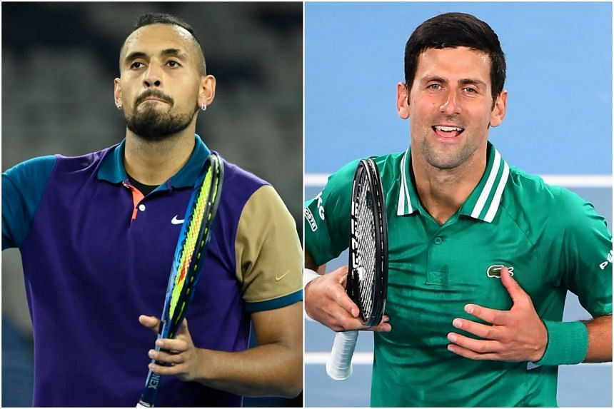 Nick Kyrgios (left) has waged a running battle with Novak Djokovic, sparked by the Serb's ill-fated Adria Tour exhibition series last year.