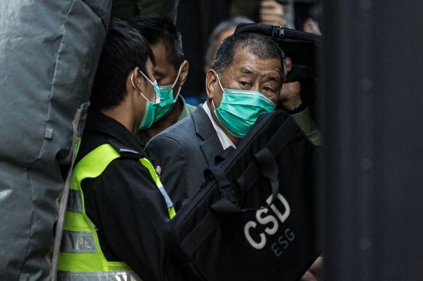 Media tycoon and Beijing critic Jimmy Lai has been in custody since Dec 3.