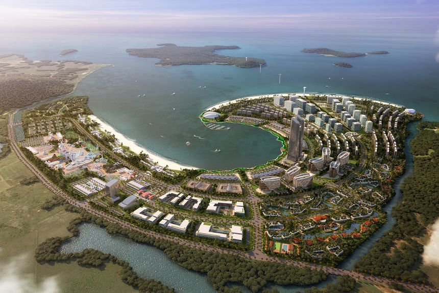 The 834ha Ream City in Sihanoukville will include family attractions, hotels, business hubs, residences and community facilities.