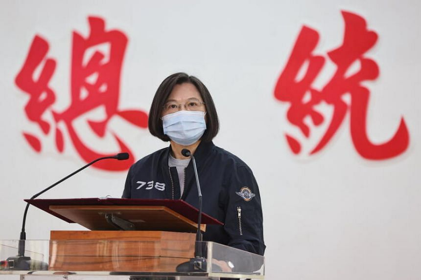 """President Tsai Ing-wen said Taiwan was in close contact with """"relevant countries"""" about the situation in the Taiwan Strait."""