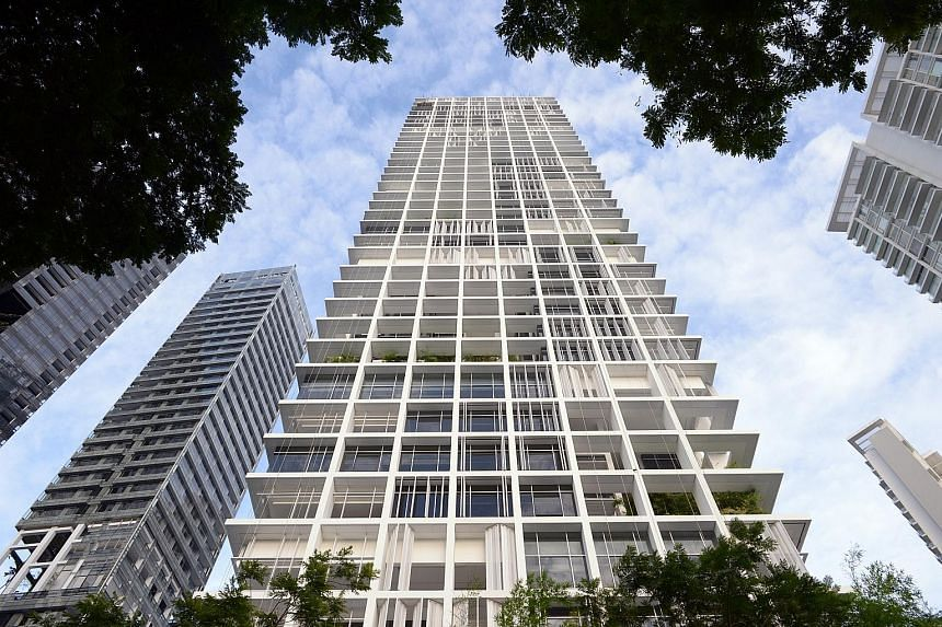$17.7m The price paid for a unit at Le Nouvel Ardmore (left), near Orchard Road, last month. It was the highest transacted price for a private resale flat that month. Resale prices last month rose 1.2 per cent from December. FILE PHOTO