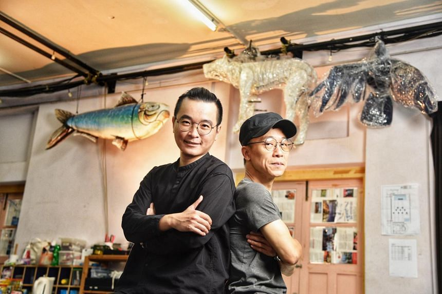 Writer and star Liu Xiaoyi (left) and director Oliver Chong, on Jan 20, 2021.