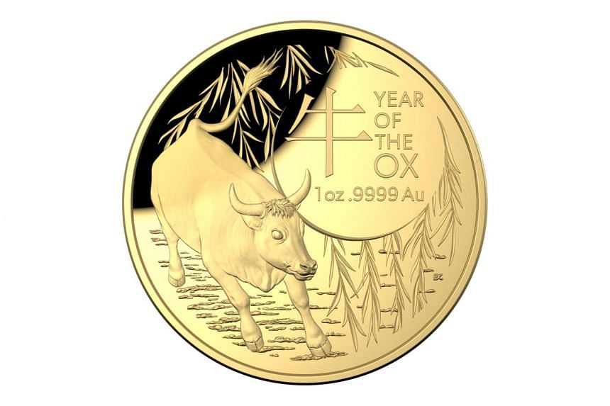 The 2021 Lunar Series collection includes a gold proof domed coin of 100 Australian dollars.