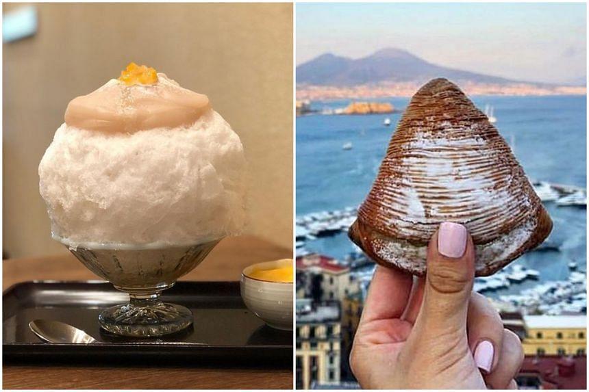 Kakigori and mont blanc.