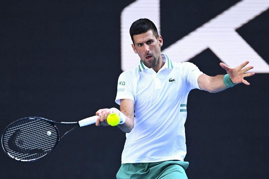 Novak Djokovic was made to sweat at the Australian Open on Feb 10, 2021.