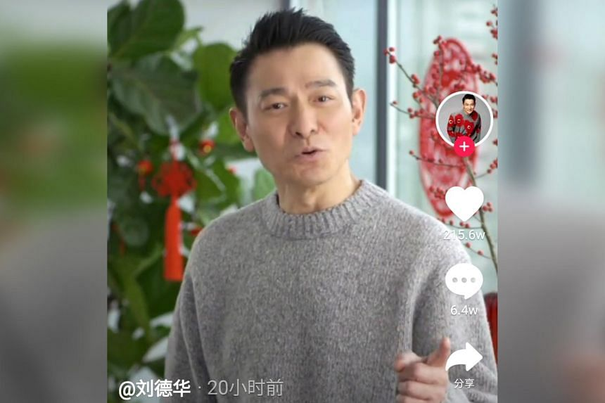In his first foray into social media, Andy Lau decided on Douyin, which is China's version of TikTok.