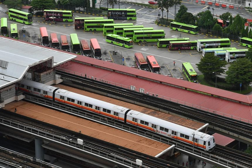 Average daily ridership for buses and trains fell by 34.5 per cent to 5.04 million.
