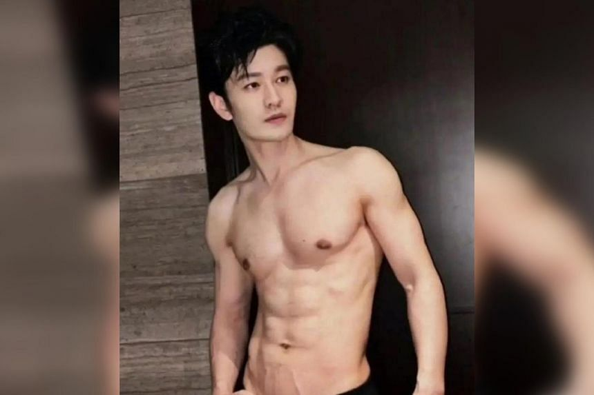 Huang Xiaoming went topless, causing fans to swoon over his washboard abs.