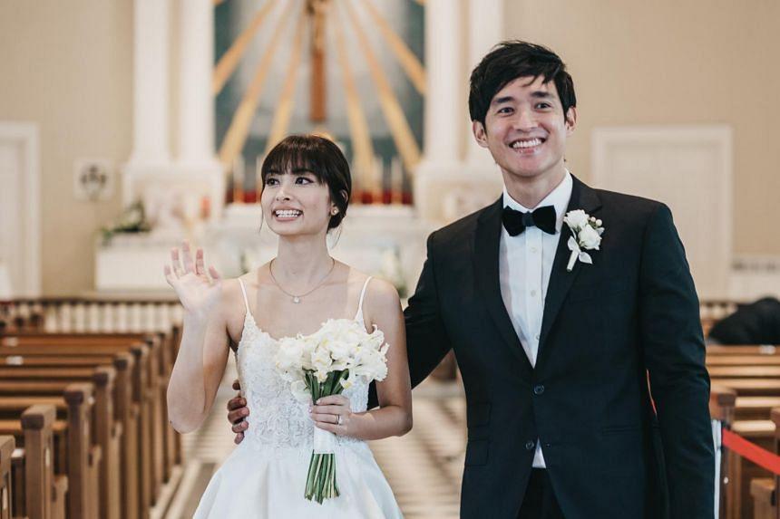 Ms Nerissa Assudani and Mr Abel Koh at their wedding on Jan 23, 2021.