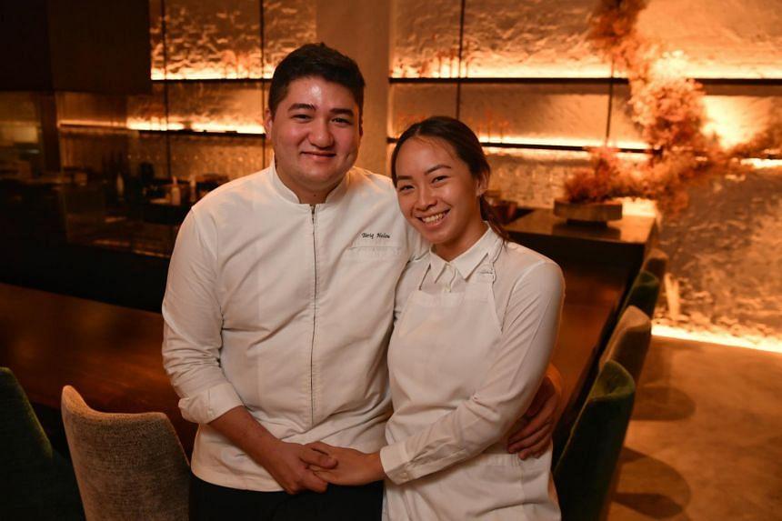 Chef-owner Tariq Helou (left) and his girlfriend Denise Wong of Fleurette restaurant at 204 Rangoon Road.