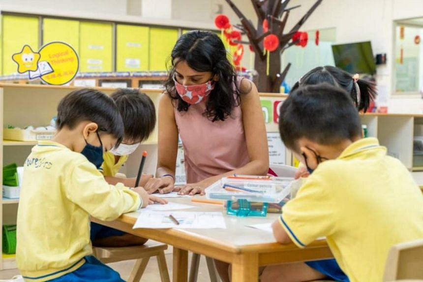 NurtureStars Preschool teacher Vanessa Ann-Mary Naidu said children learn best through activities that keep them interested and engaged.