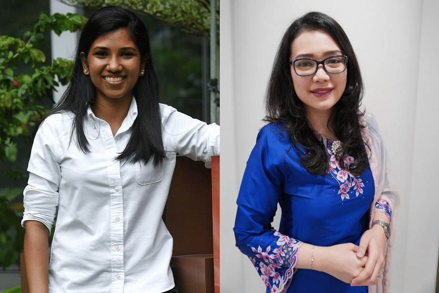 Dr Lavenniah Annadoray, research fellow at the NUS Yong Loo Lin School of Medicine and Singapore Muslim Women's Association (PPIS) president Hazlina Abdul Halim. PHOTOS: MOHD KHALID BABA, PPIS