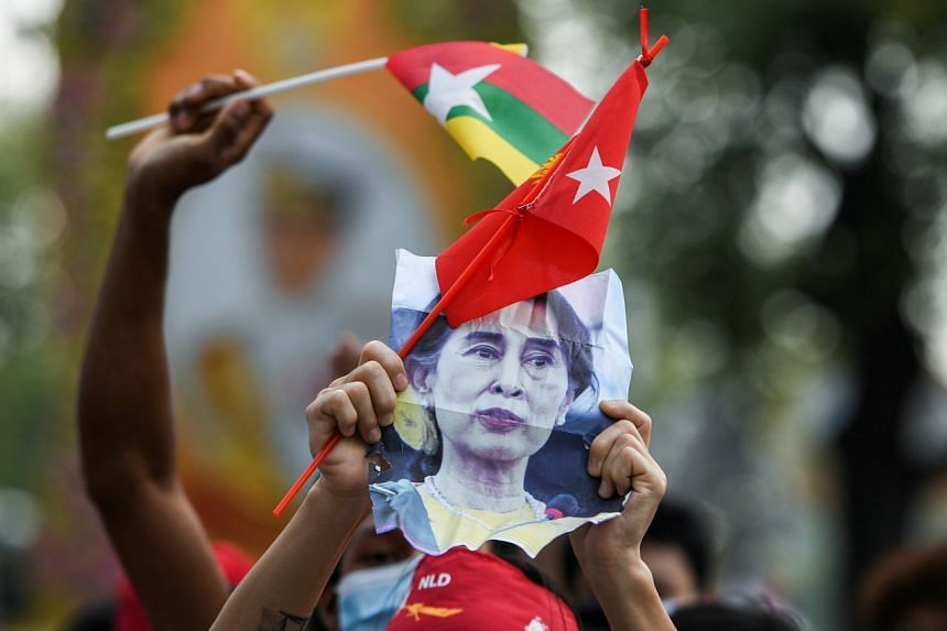 Despite the distance, Myanmar nationals  said they are lending their support to the pro-democracy campaign.