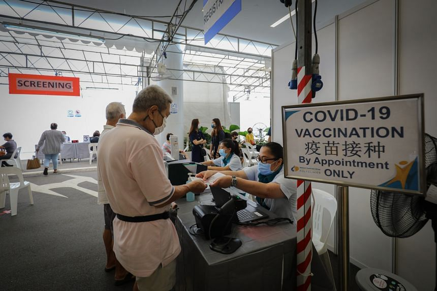 This comes after a month-long pilot, where those aged 70 and above in Ang Mo Kio and Tanjong Pagar - towns with a higher proportion of elderly residents - began receiving their vaccinations from Jan 27.