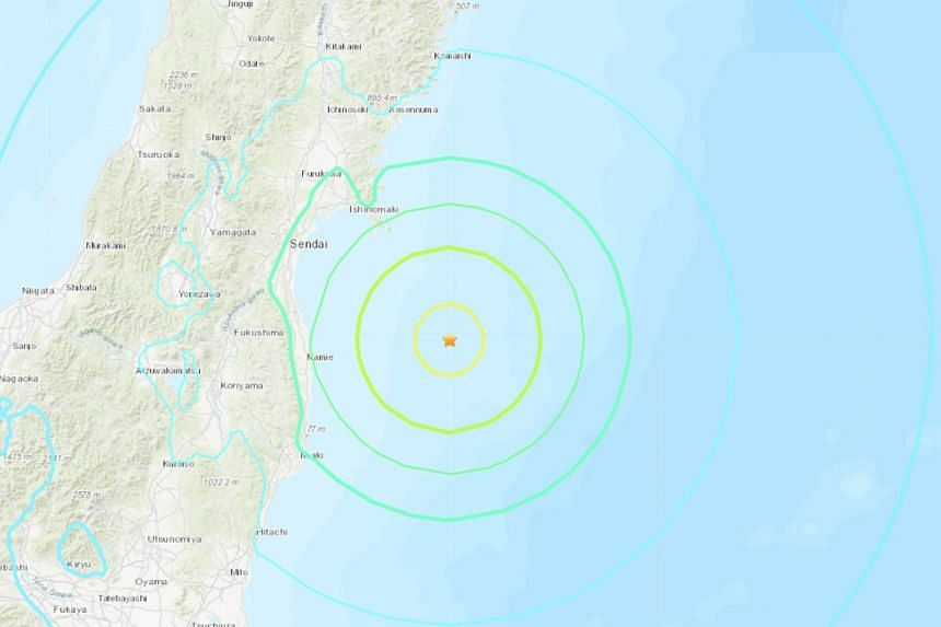 Strong quake hits Japan's northeast coast; no tsunami alert