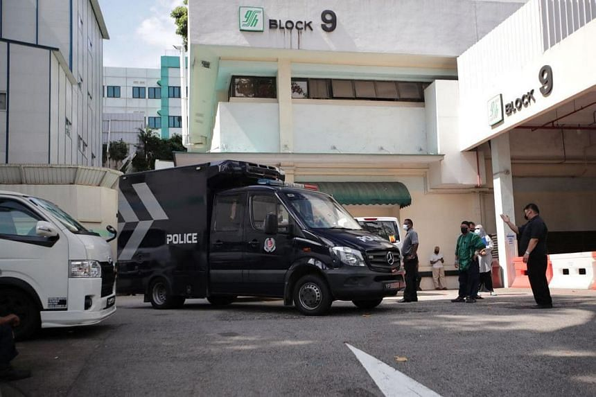 The first police hearse arrived at SGH mortuary, on Feb 13, 2021, at 11.11am.