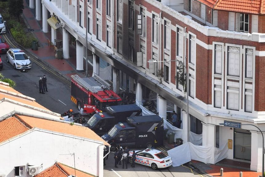 On Saturday morning, five people were killed and one sent to Singapore General Hospital after a car slammed into the front of a shophouse.