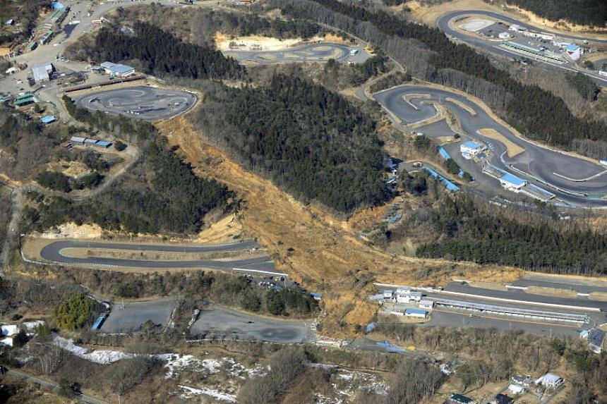 The 7.3 magnitude quake struck shortly before midnight and set off a landslide in Fukushima.