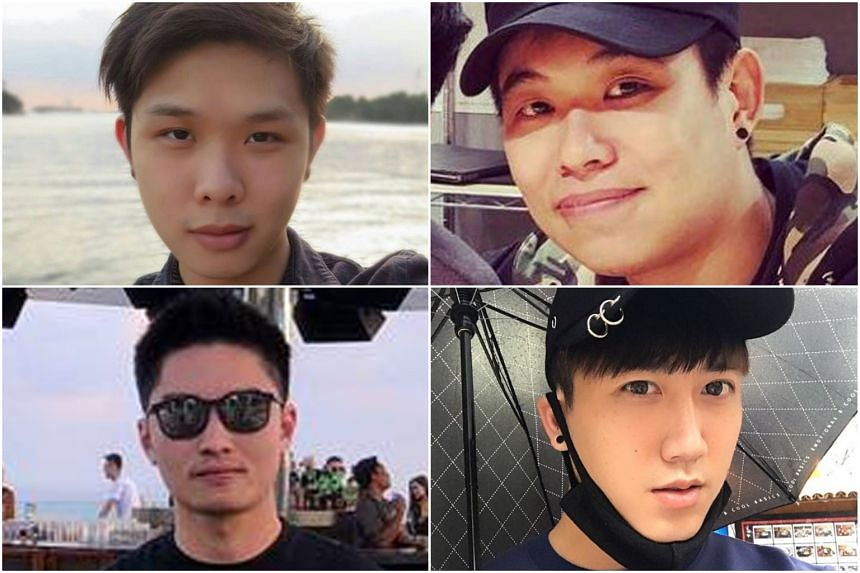 (Clockwise, from top left) Mr Jonathan Long, Mr Eugene Yap, Mr Gary Wong Hong Chieh and Mr Elvin Tan Yong Hao were among those who died.