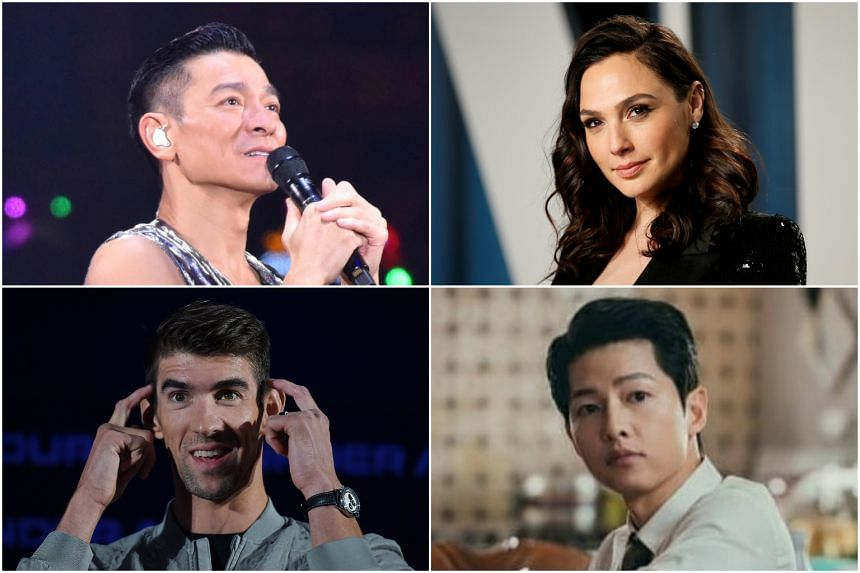 (Clockwise from left) Andy Lau, Gal Gadot, Song Joong-ki, and Michael Phelps are among celebrities born in the Year of the Ox.