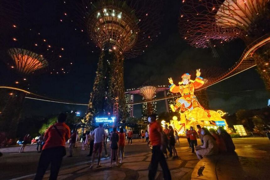 Only a fraction of the usual crowds are at River Hongbao this year.