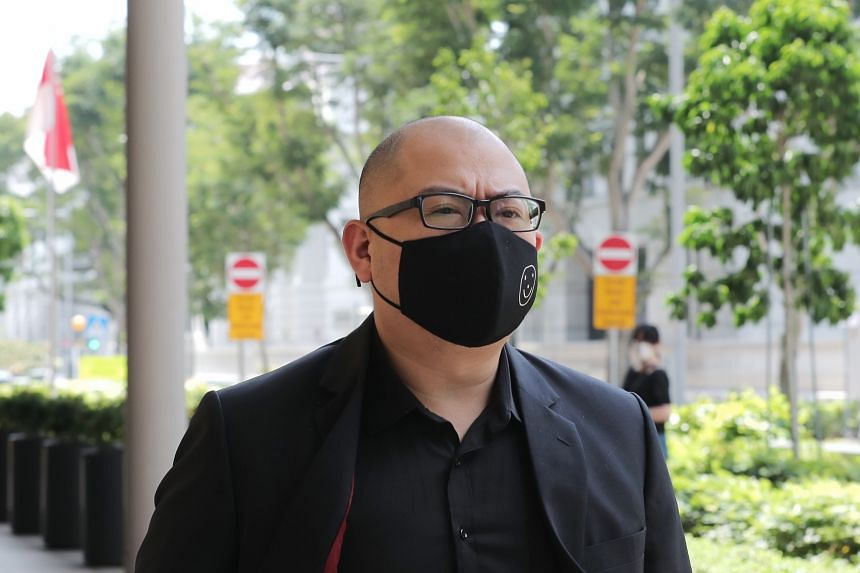The Online Citizen editor Terry Xu leaving the High Court on Feb 15, 2021.