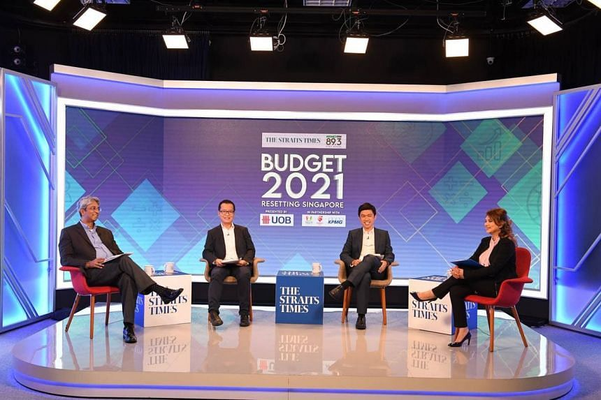 (From left) ST Associate Editor Ven Sreenivasan, UOB's Andrew Liew, KPMG's Harvey Koenig and host Michelle Martin.