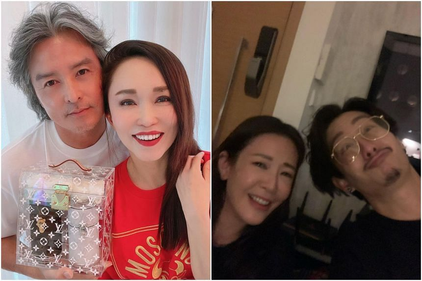 (From left) Christopher Lee and Fann Wong, Jesseca Liu and Jeremy Chan.