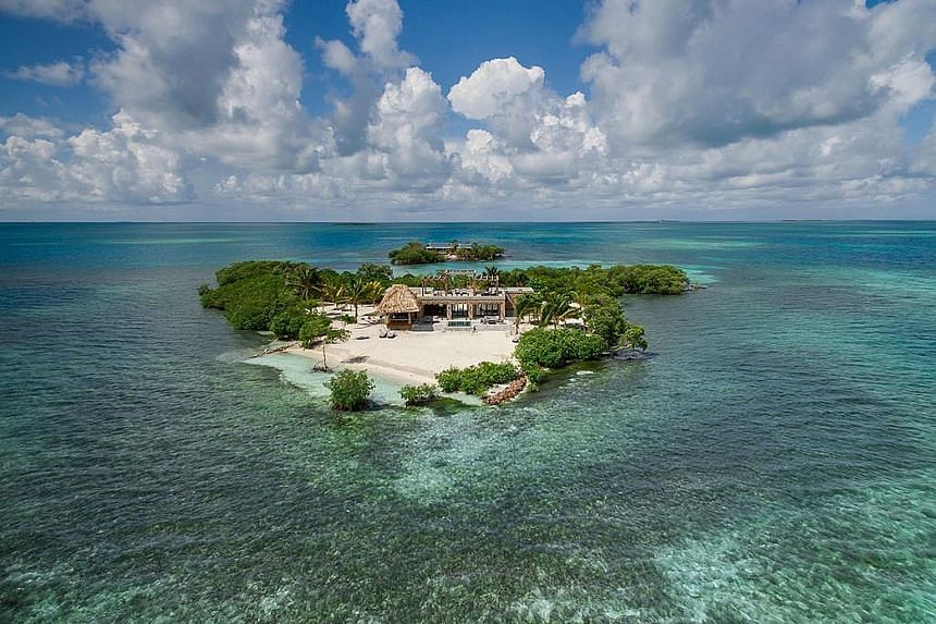 Gladden Private Island, which houses a luxury villa, is available for rent, in Belize. The Central American country reopened its borders last Oct 1 and requires that travellers have a negative Covid-19 test upon arrival. PHOTO: HOMEAWAY