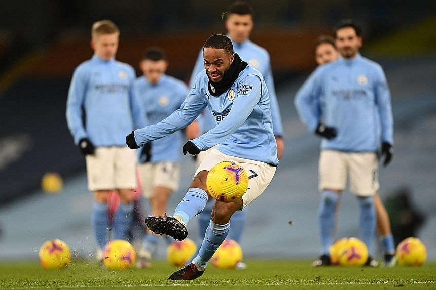 Manchester City's Raheem Sterling has two goals and an assist in his last three league outings and will be a threat to Everton today.