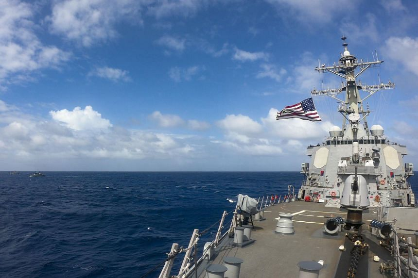 The US Navy's 7th Fleet said destroyer USS Russell asserted navigational rights and freedoms in the Spratly Islands.