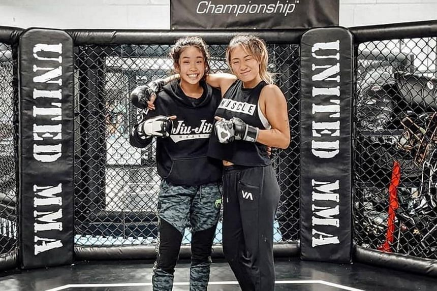 Victoria (left) played down comparisons with her big sister and stressed she would never face Angela in an MMA contest.